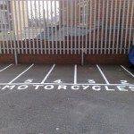 Motorcycle Car Park Markings