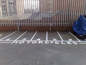 Motorcycle Car Park Markings