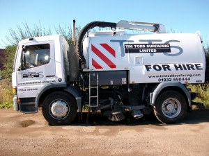 large road sweeper