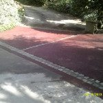 Red Tarmac Driveway Entrance 3