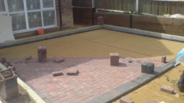 Block paving patios