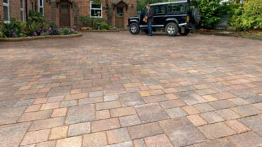Block paving roadways