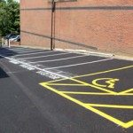 Car Park Spaces with Disabled Bay