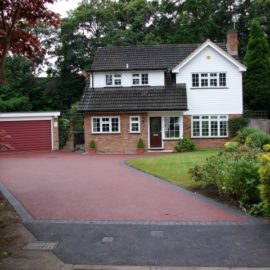 Red Tarmac Driveway Installation, Pyrford, Woking