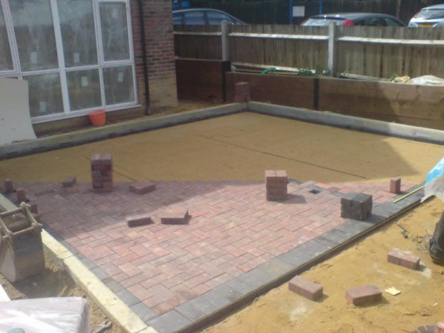 Block Paving Patio Construction