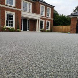 Silver Quartz Resin Bound Driveway, Cobham, Surrey
