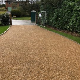 Tar and Shingle Driveway in Godalming, Surrey