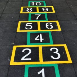 Line marking in Edgware, London