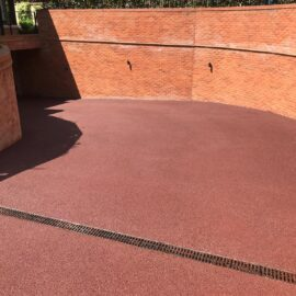 Red Tarmac Ramp in Ascot, Berkshire