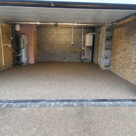 Resin Garage Area in Reigate, Surrey