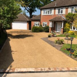 Tar and Shingle Driveway in Camberley, Surrey