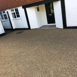 Tar and Shingle Driveway in Woking, Surrey