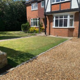 Shingle Driveway in Weybridge, Surrey