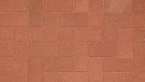 Driveline 50 block paving red